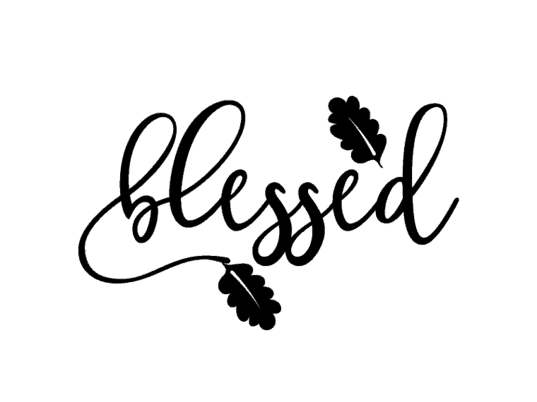 Blessed Free svg files, free dxf, free png & jpeg