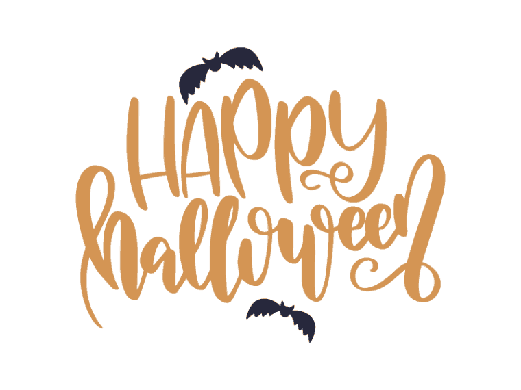 Hand lettered happy halloween svg file