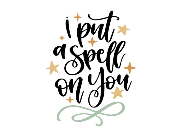 I put a spell on you vector clipart