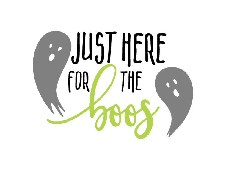 Just here for the boos. free Halloween svg file