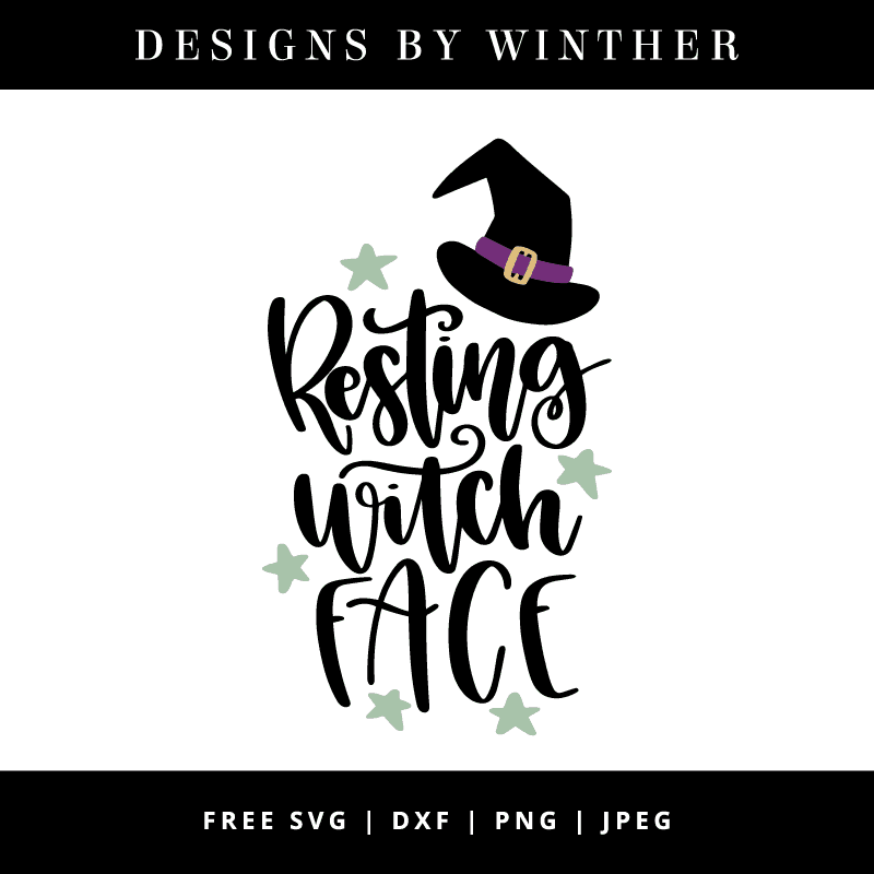 resting witch face vector clipart
