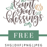 count your blessings clipart