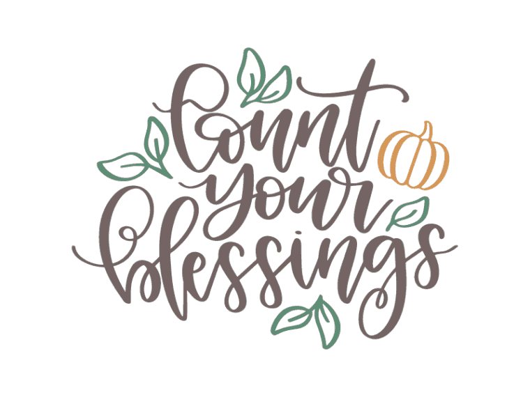 count your blessings vector art