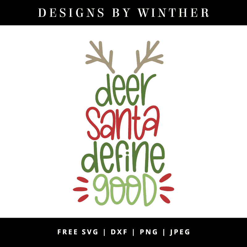 Deer santa define good vector clipart