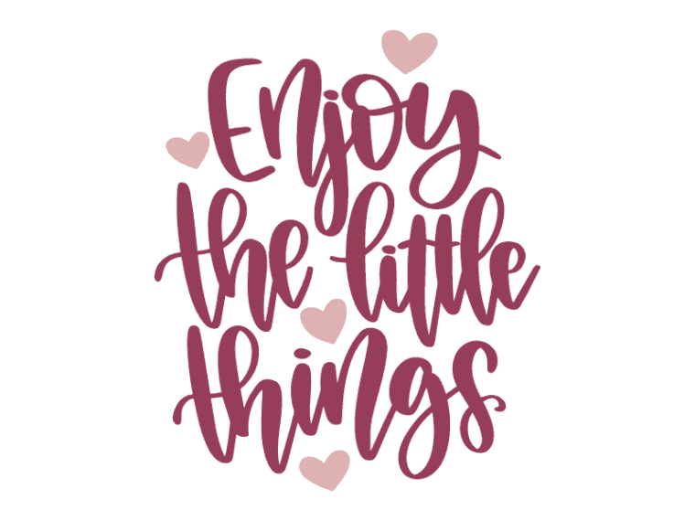 Enjoy the little things svg file