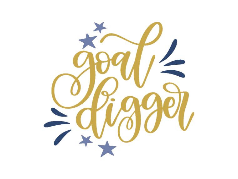 goal digger. free vector art