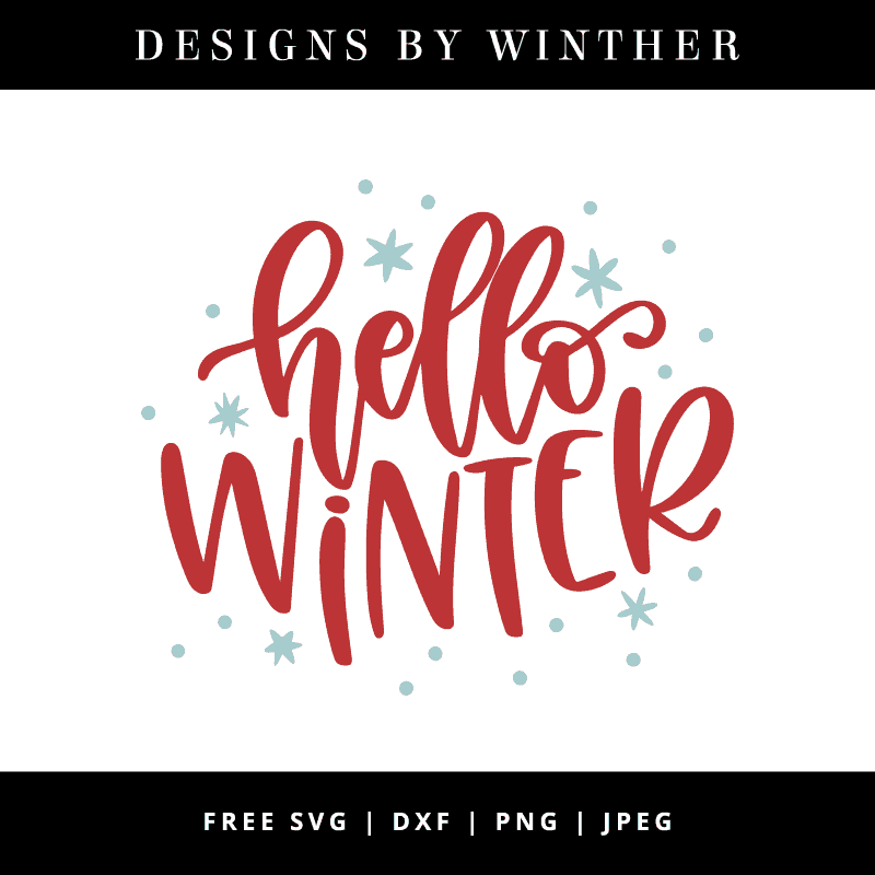 Hello winter vector clipart