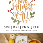 i love fall most of all vector