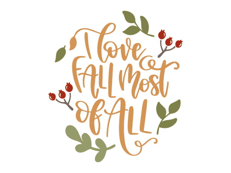 i love fall most of all vector art
