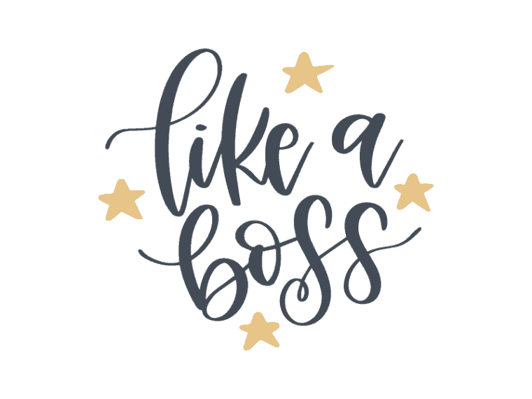 Like a boss vector art
