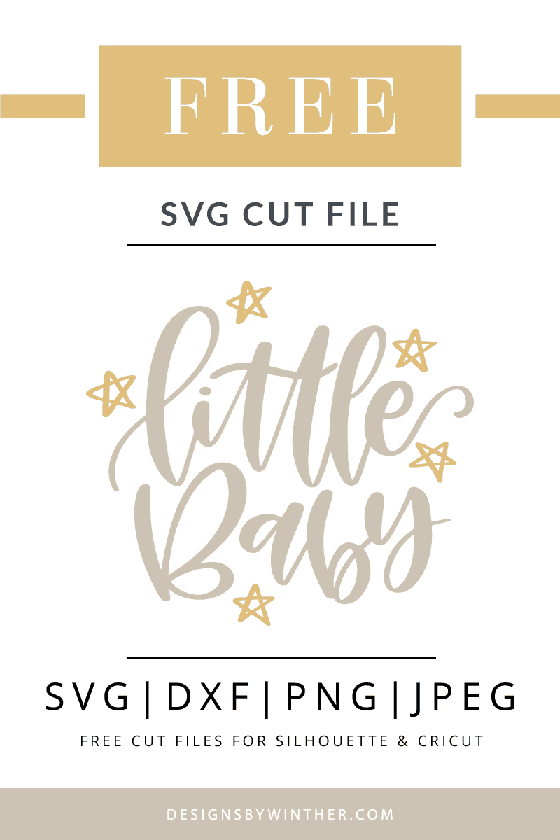 Free little baby svg cutting file