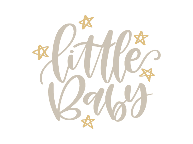 little baby lettered svg file