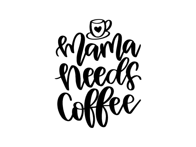 free vector art. mama needs coffee
