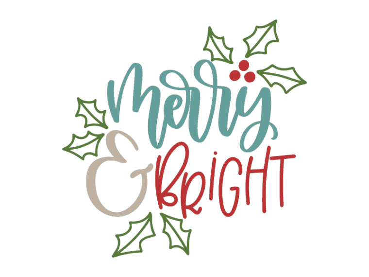 Merry and bright vector art