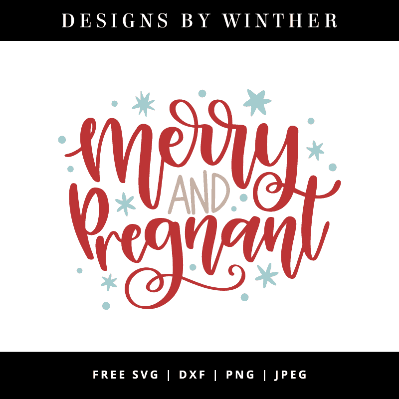 Merry and pregnant vector art