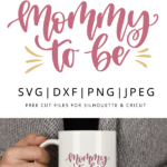Mommy to be hand lettered vector clipart