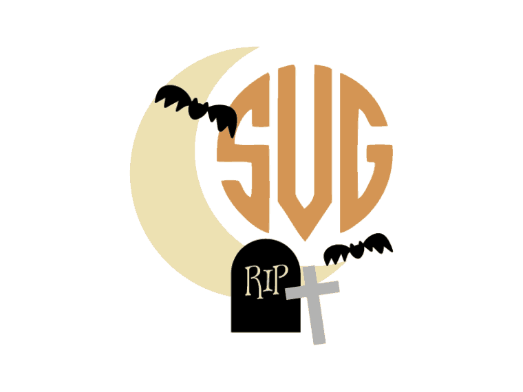 Halloween moon svg file