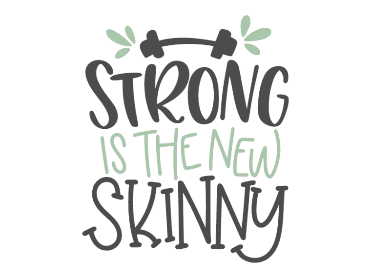 strong is the new skinny vector art
