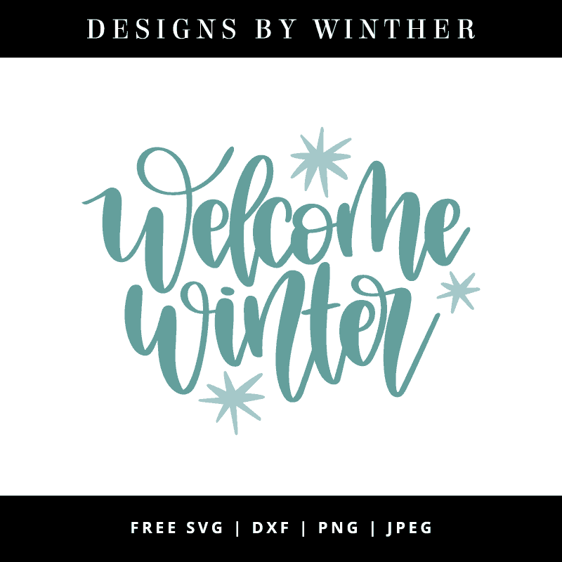 Welcome winter vector art file