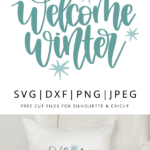 welcome winter vector clipart