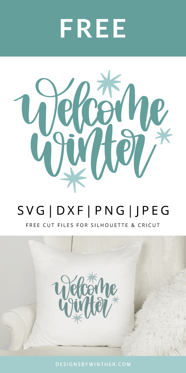 Free welcome winter svg cut file for silhouette and cricut