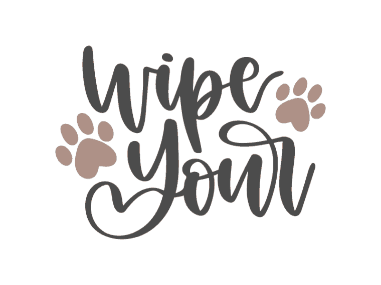Wipe your paws vector art