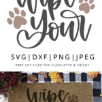 Wipe your paws vector clipart