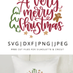 a very merry christmas hand lettered clipart