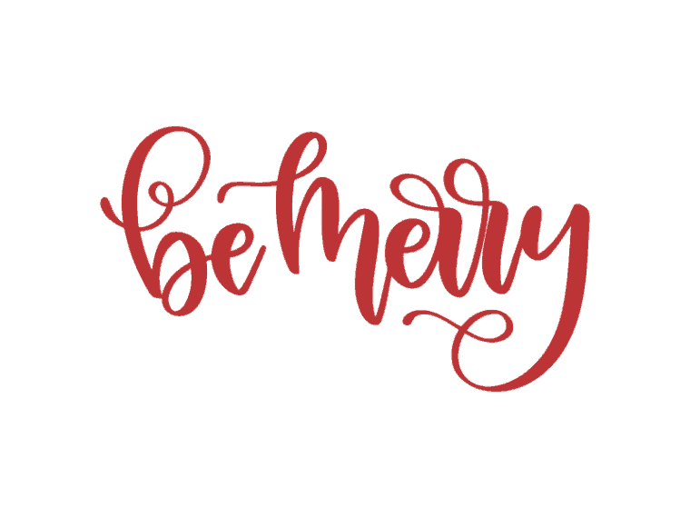 Be merry vector art