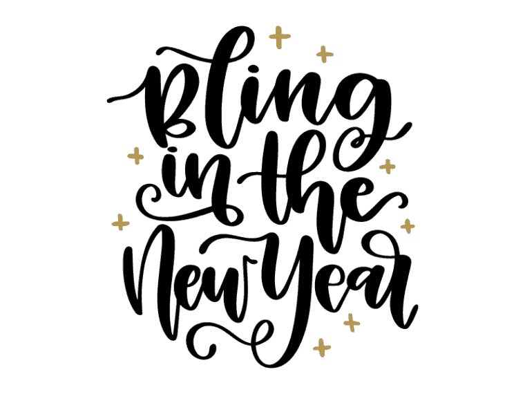 Bling in the new year svg vector art