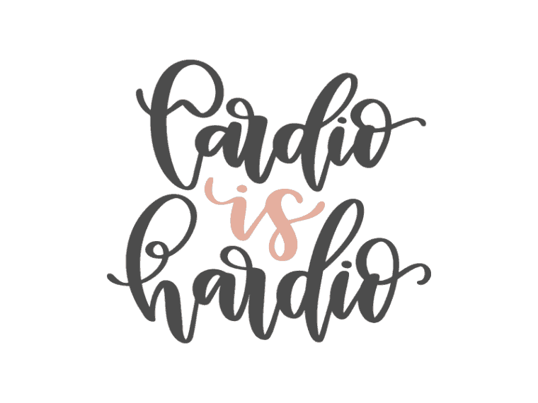 Cardio is hardio vector art