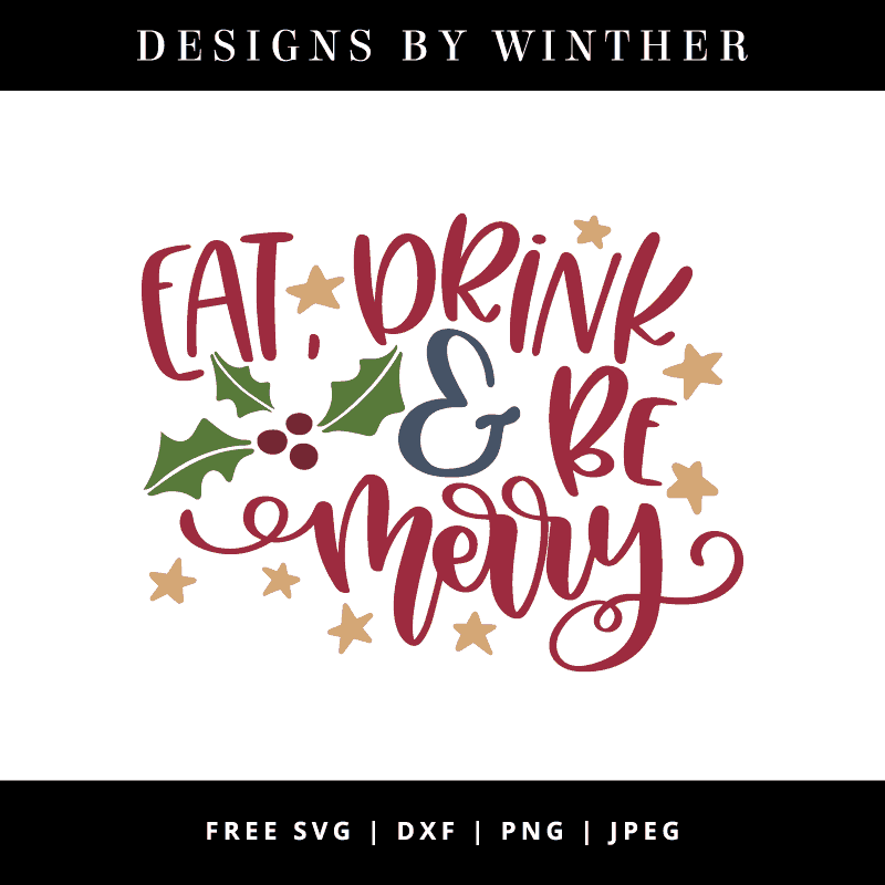 Eat drink and be merry vector art