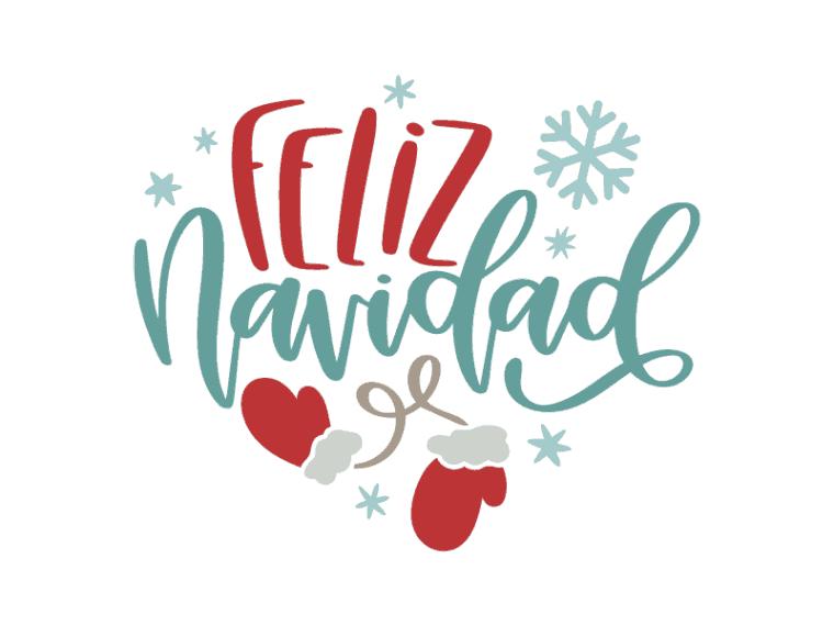 Feliz navidad. hand lettered vector art