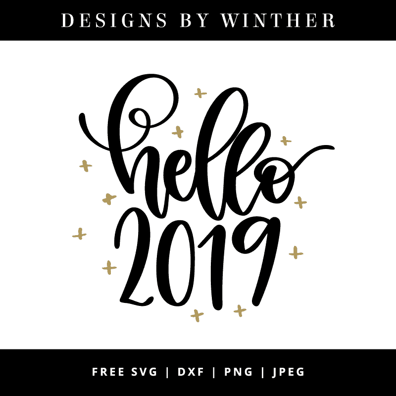 Hello 2019 svg vector file