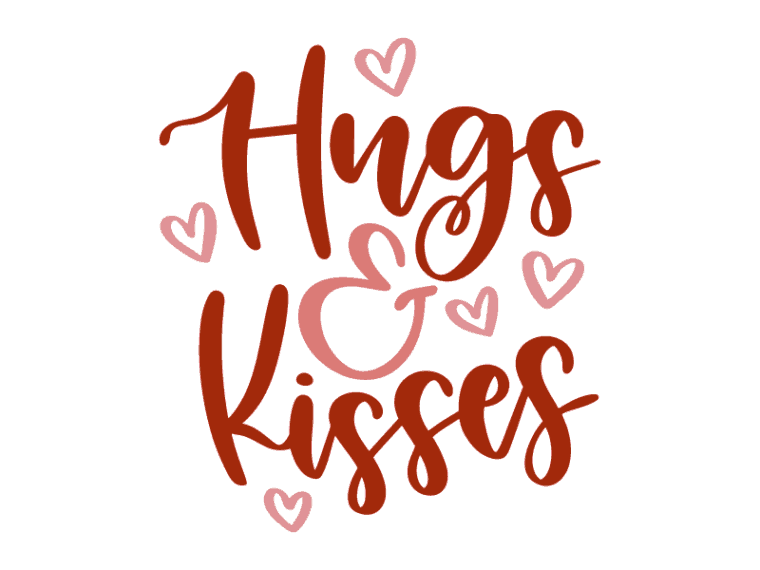 Hugs and kisses vector art