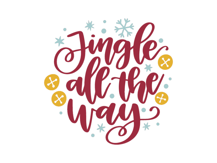 Jingle all the way vector art