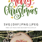 Free Merry Christmas Svg Dxf Png Jpeg Designs By Winther