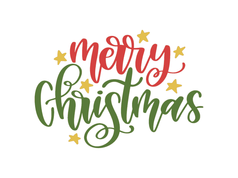Merry christmas hand lettered svg file