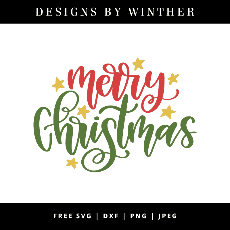 Merry Christmas Images Free.Free Merry Christmas Svg Dxf Png Jpeg Designs By Winther