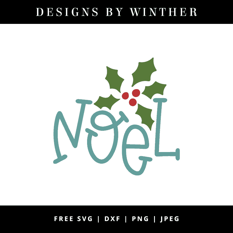 Noel hand lettered vector file