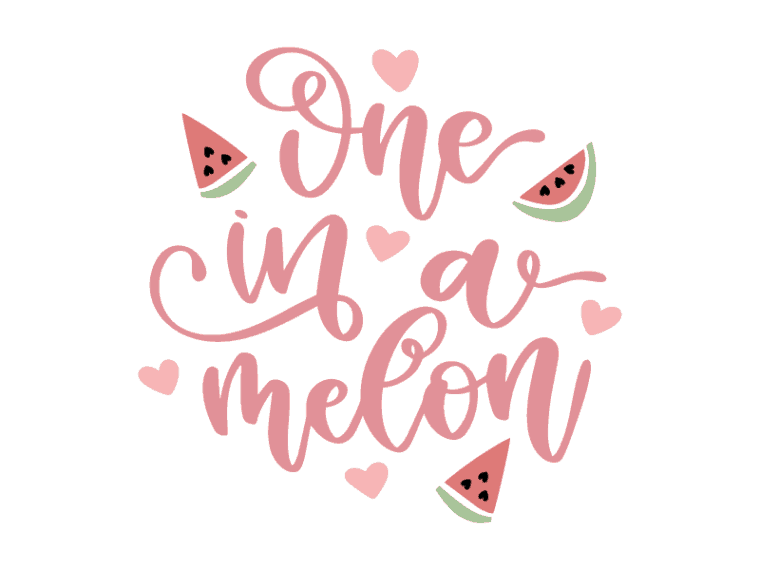 One in a melon vector art