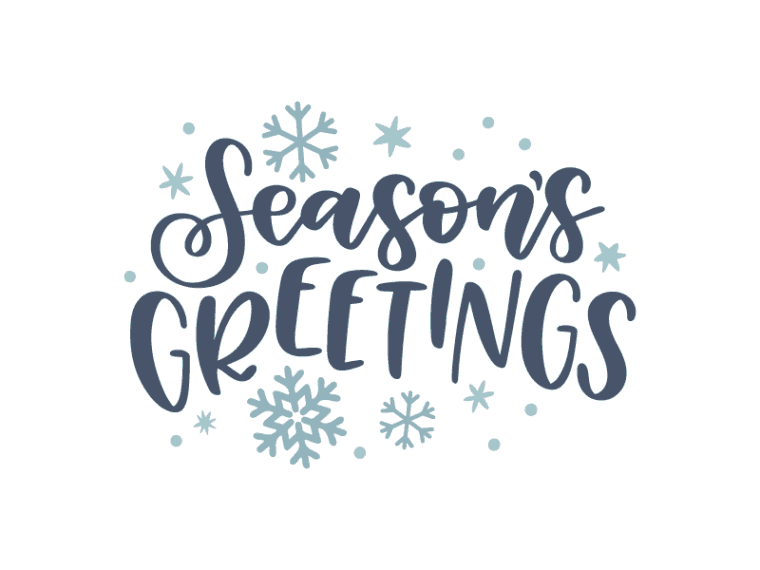 Season's greetings vector art