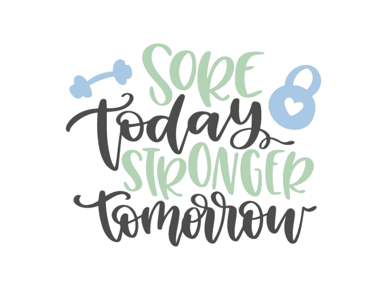 sore today stronger tomorrow vector art