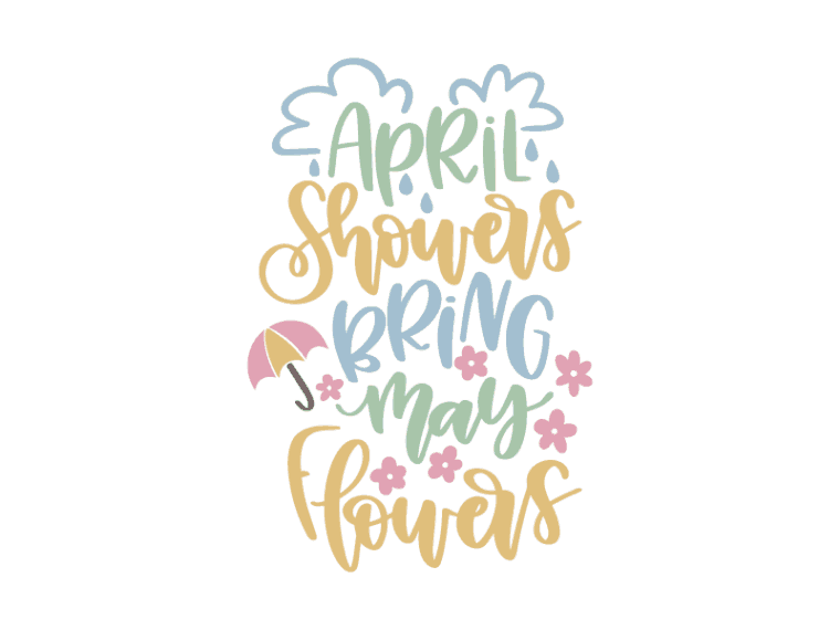 April showers bring May showers vector art