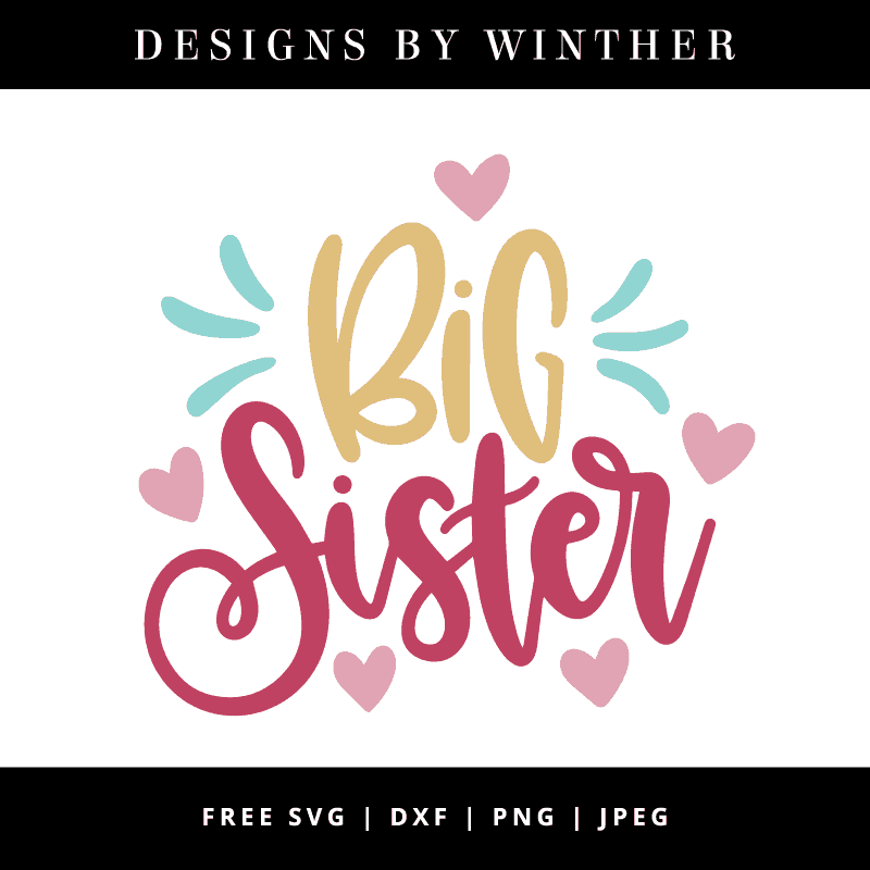 Big sister hand lettered vector art