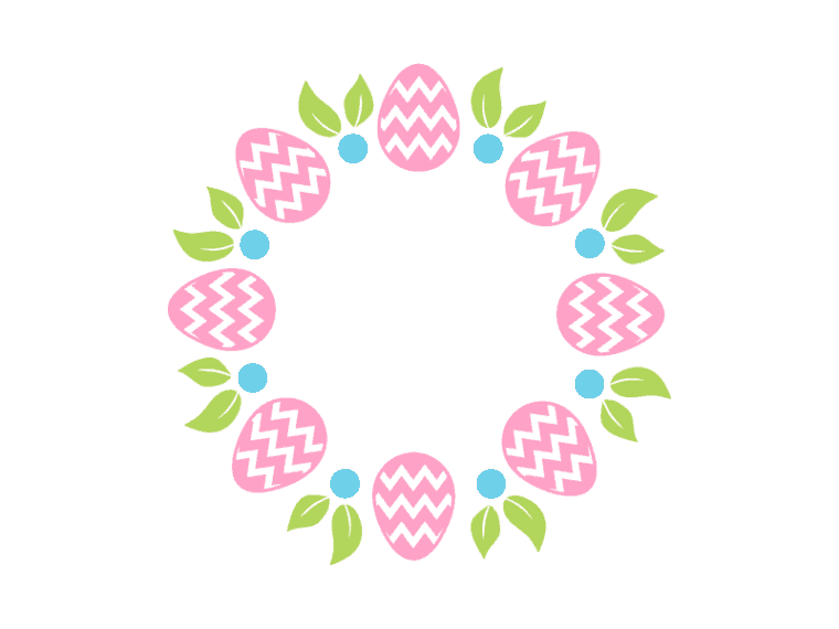 Easter monogram vector art