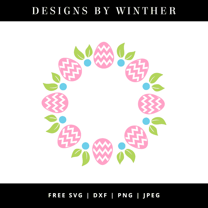Free easter monogram svg file