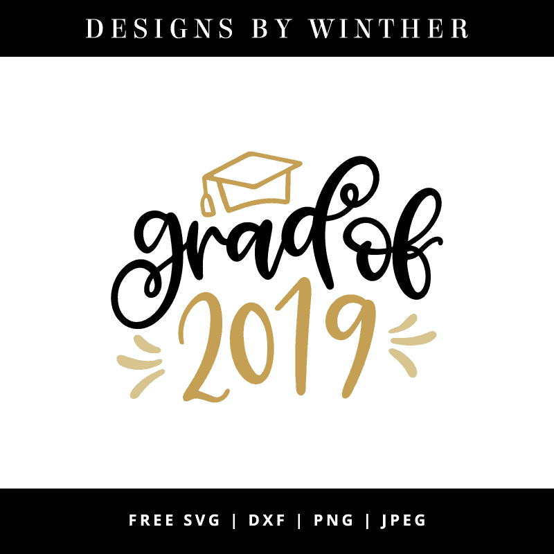 Grad of 2019 hand lettered vector file