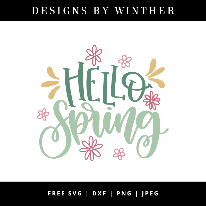 Hello spring vector clipart