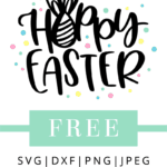 Hoppy easter svg hand lettered file